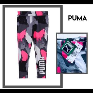 Puma kids XL spandex multi color leggings